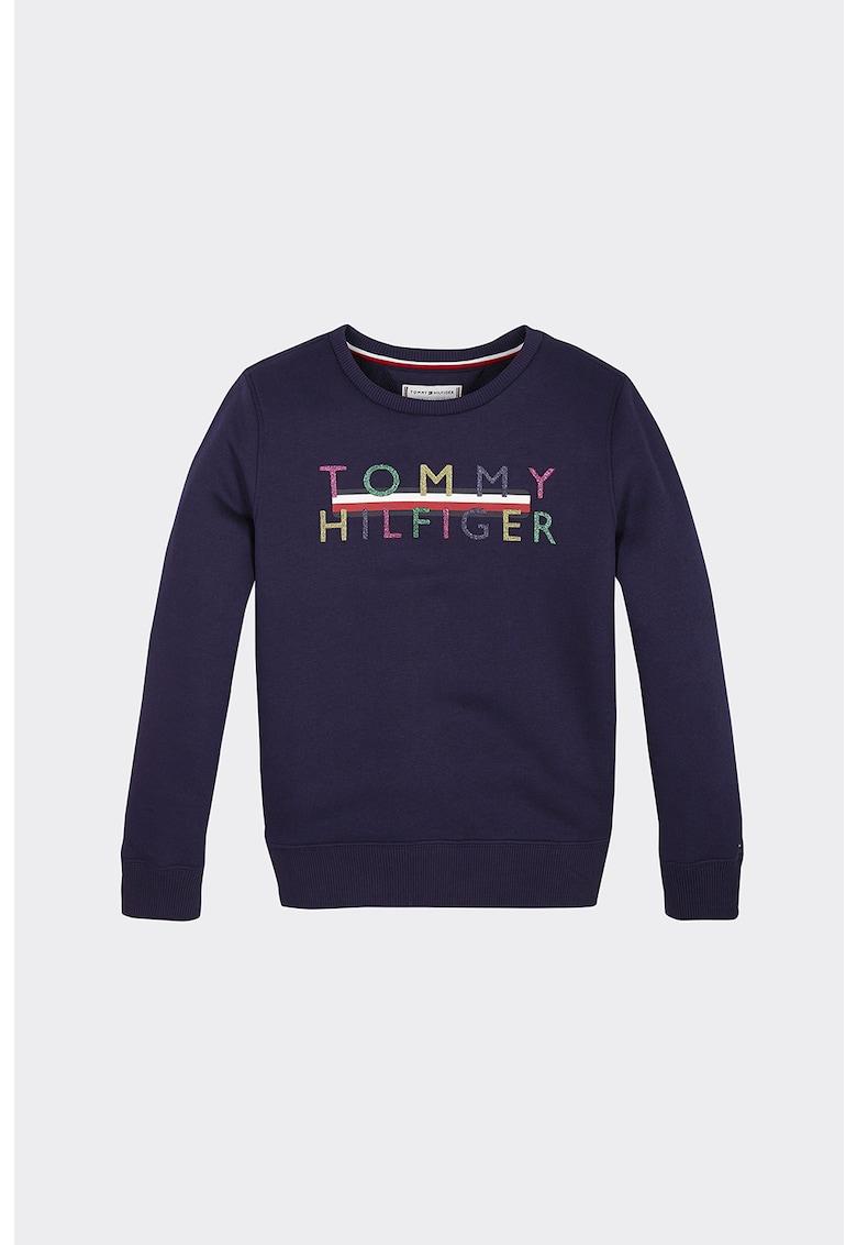 Bluza sport cu imprimeu logo imagine fashiondays.ro Tommy Hilfiger