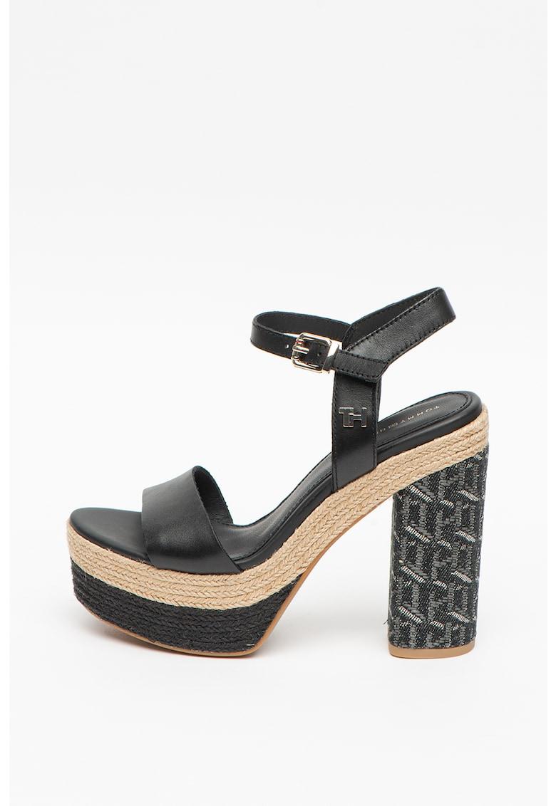 Sandale tip espadrile din piele Raffia poza fashiondays