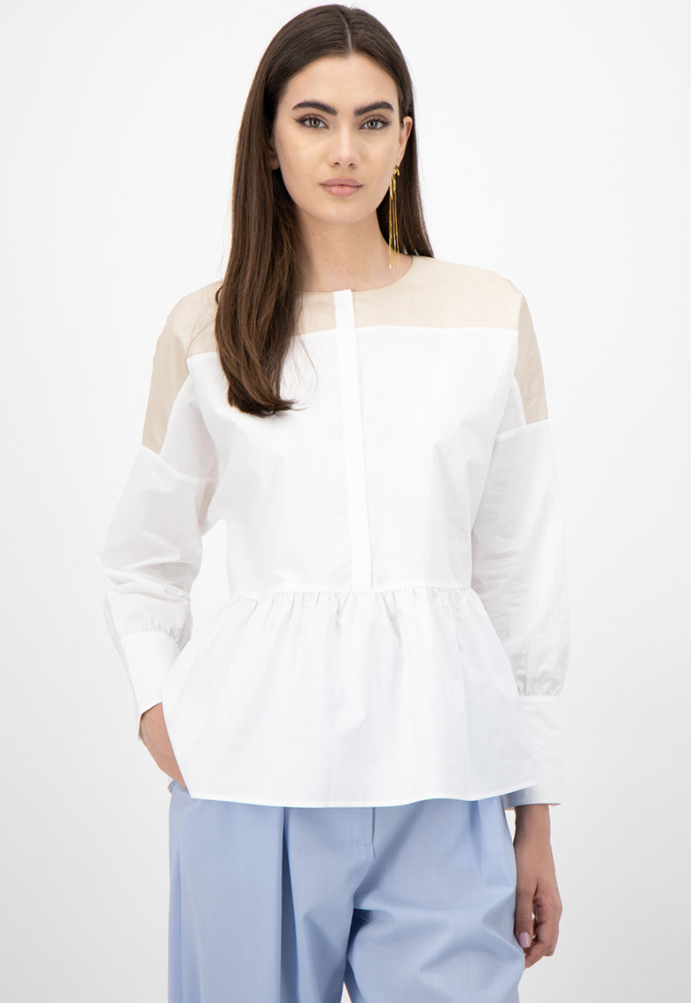 Bluza cu maneci cazute si terminatie evazata imagine promotie