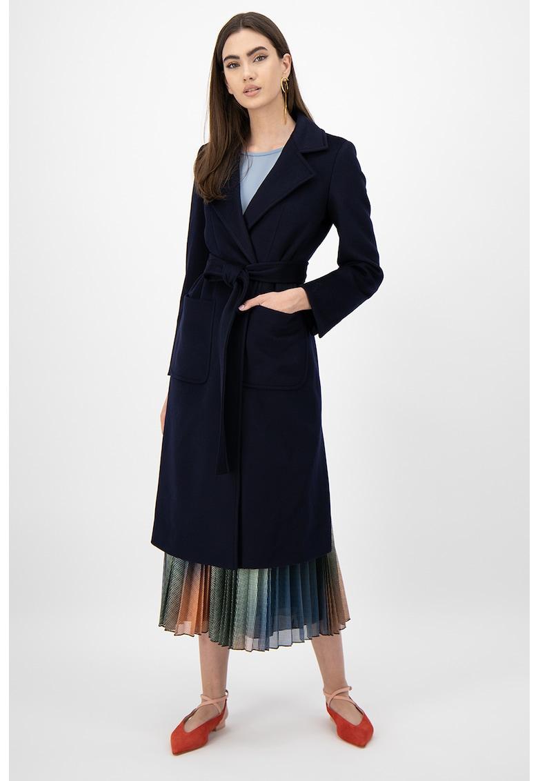 Palton de lana cu buzunare imagine promotie