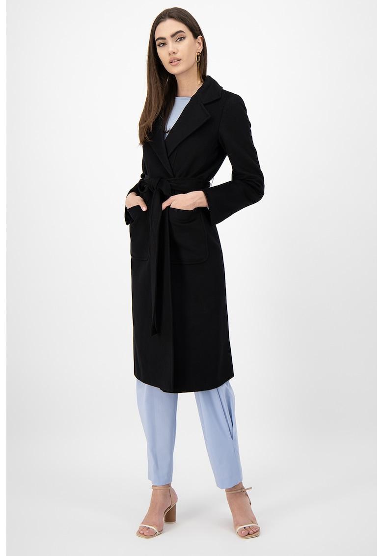 Palton de lana cu buzunare