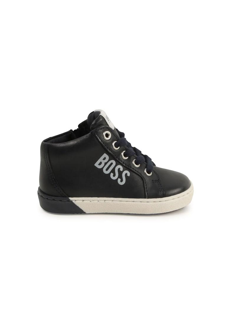 Pantofi sport de piele cu detaliu logo poza fashiondays