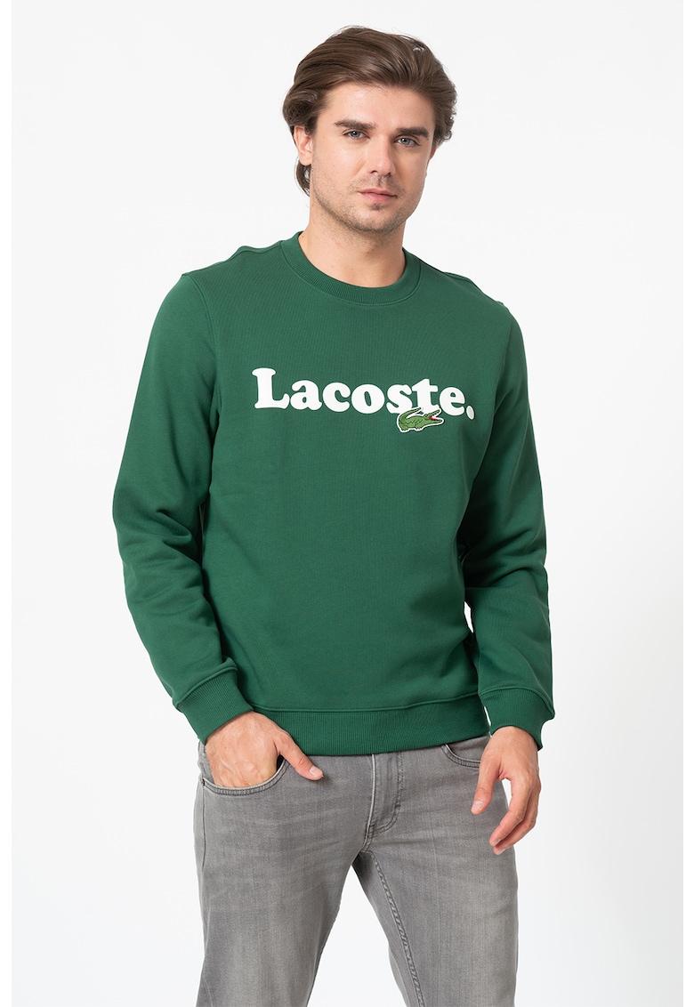Bluza sport de bumbac cu imprimeu logo imagine