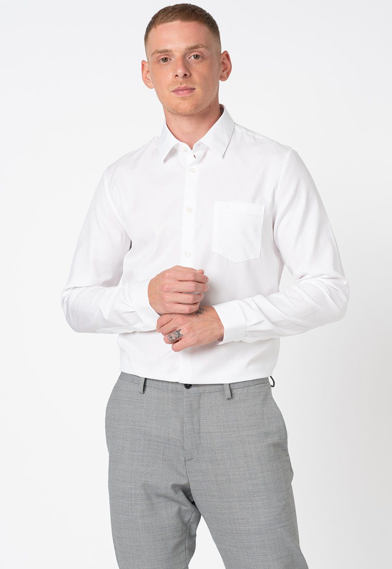 Camasa regular fit din material poplin