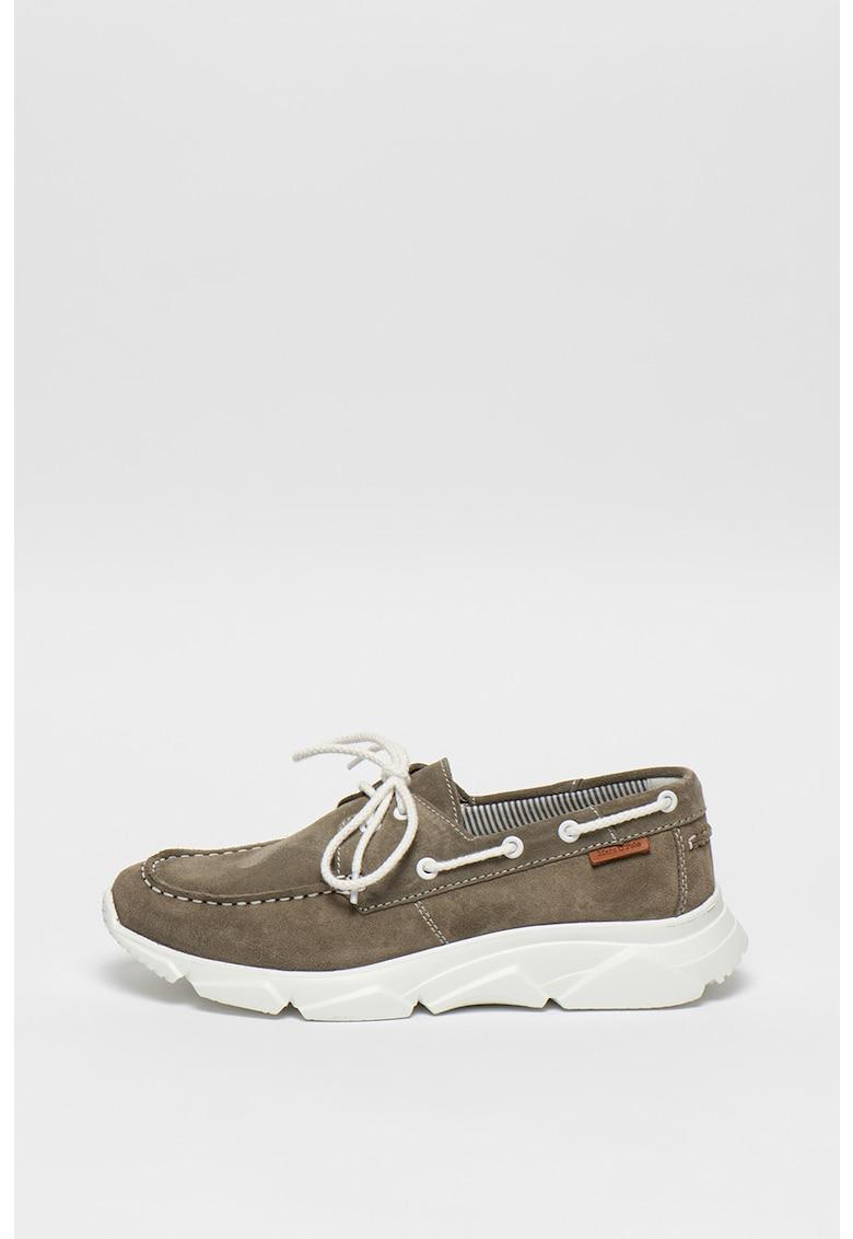 Pantofi loafer de piele intoarsa cu snur pentru ajustare imagine