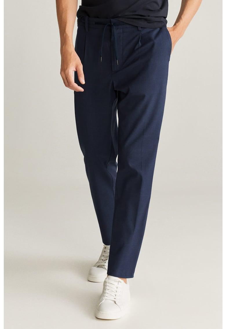 Pantaloni conici cu snur in talie Nolan imagine