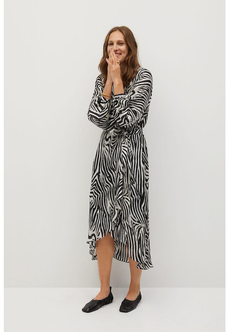 Rochie midi cu cordon Zebra