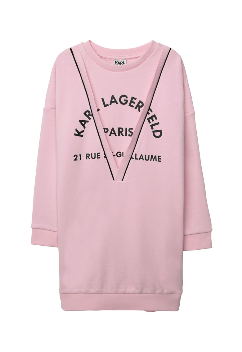 Rochie tip bluza sport cu imprimeu logo Karl-Lagerfeld