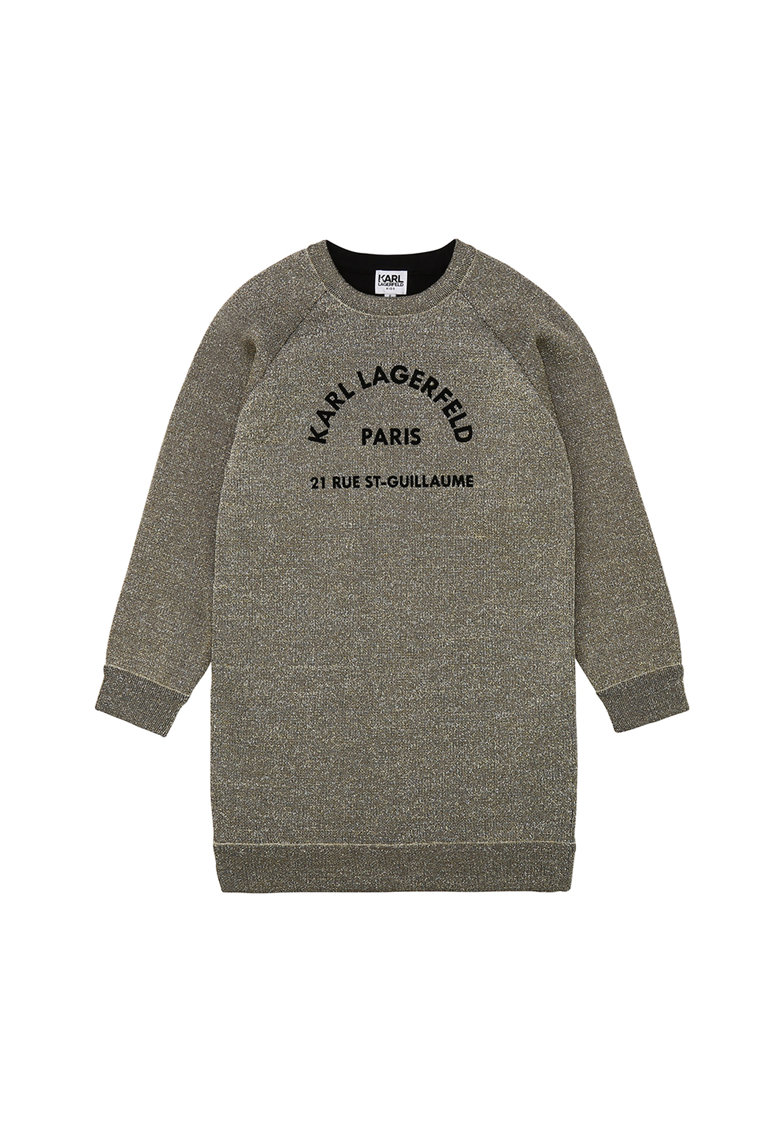 Rochie tip bluza sport cu imprimeu logo 1 Karl-Lagerfeld