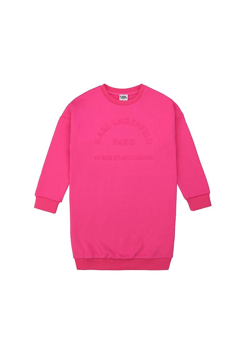 Rochie tip bluza sport cu logo in relief Karl-Lagerfeld