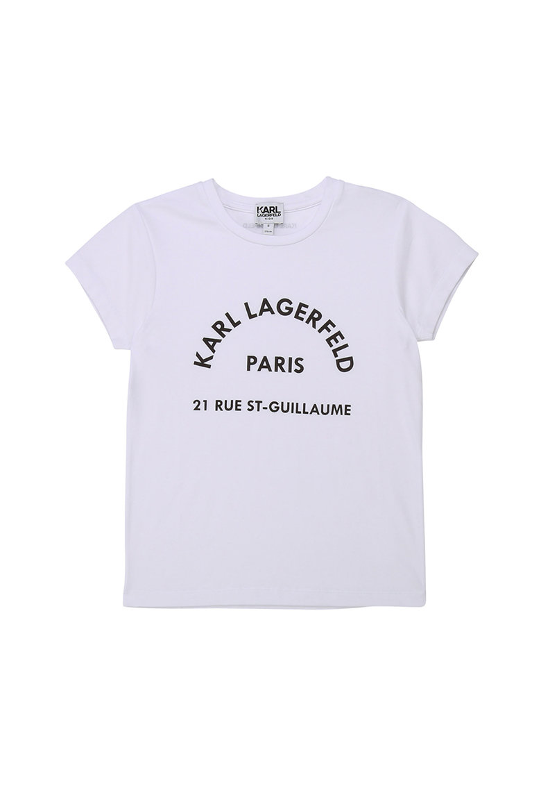 Tricou din amestec de modal cu imprimeu logo