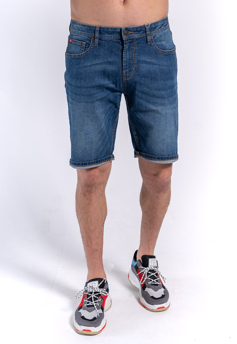 Bermude din denim cu aspect decolorat de la Lee Cooper