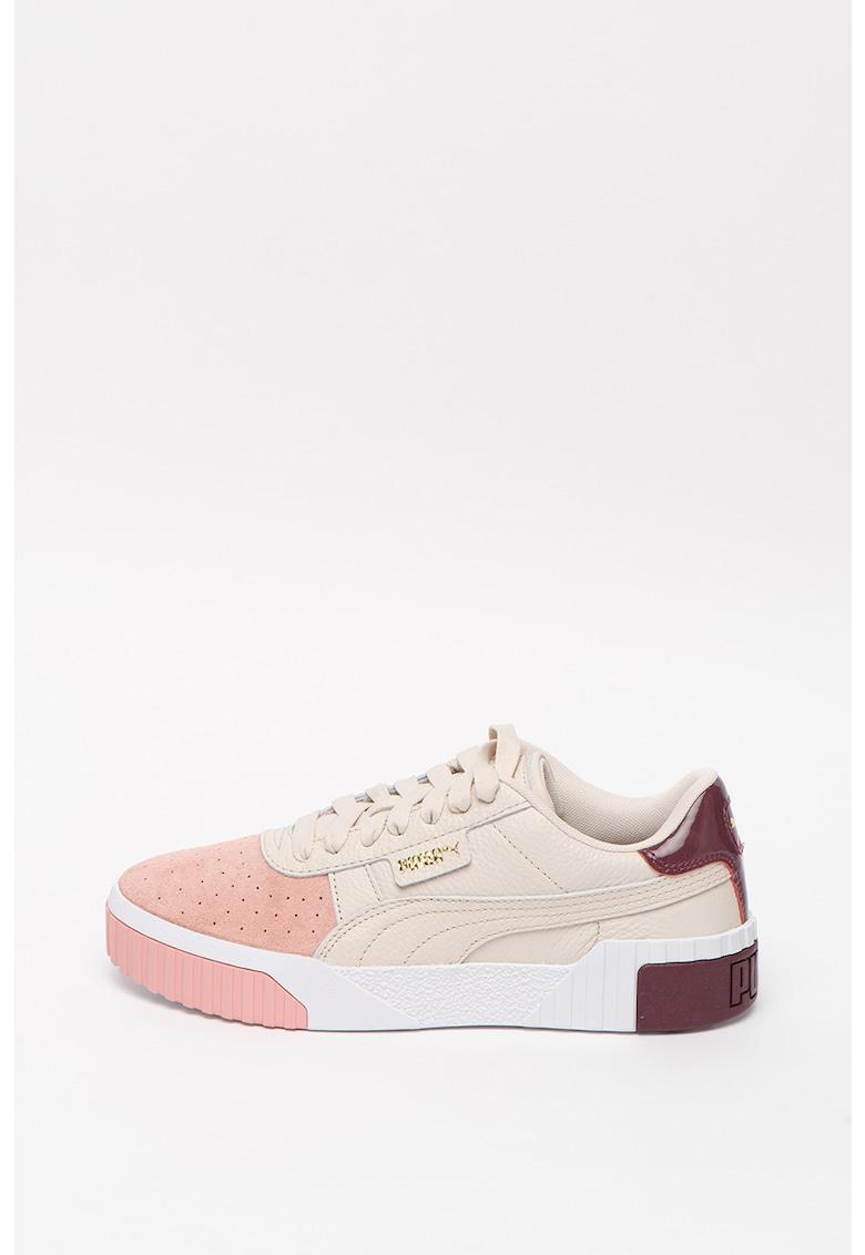 Pantofi sport din piele cu insertii din piele intoarsa Cali Remix