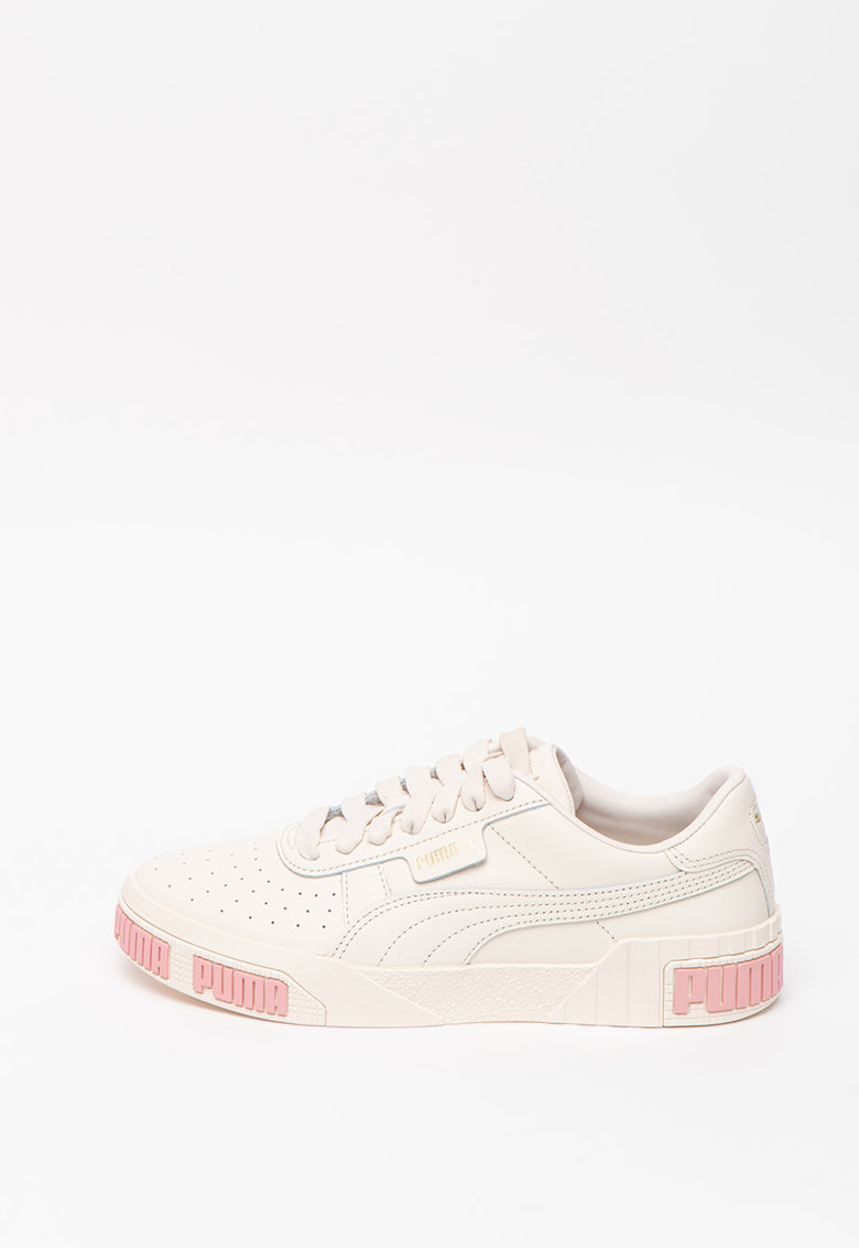 Pantofi sport din piele cu talpa wedge si insertii din piele nabuc 2