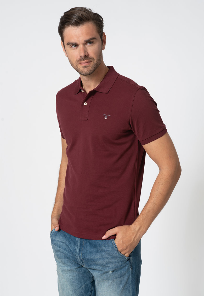 Tricou regular fit din pique