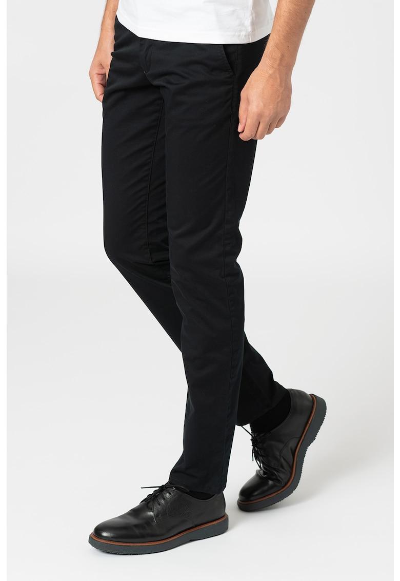 Pantaloni chino slim fit din amestec de bumbac organic imagine promotie