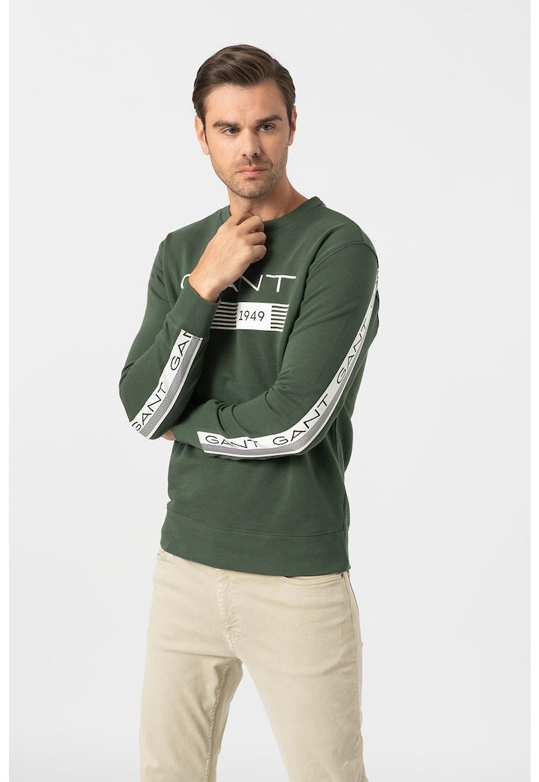 Bluza sport cu decolteu la baza gatului si logo imagine promotie