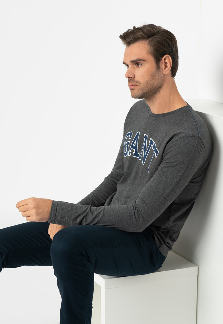 Bluza regular fit cu imprimeu logo imagine promotie