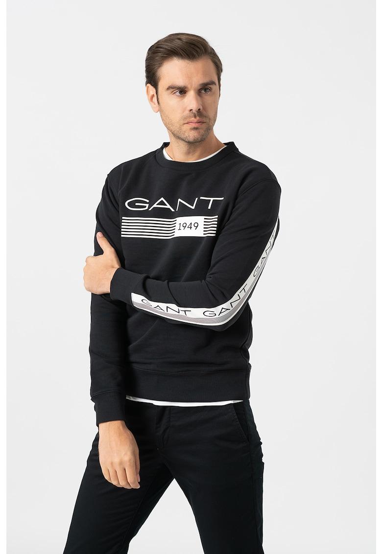 Bluza sport cu decolteu la baza gatului si logo imagine