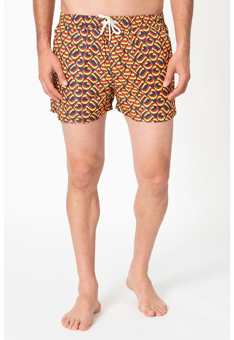 Pantaloni scurti de baie cu model logo
