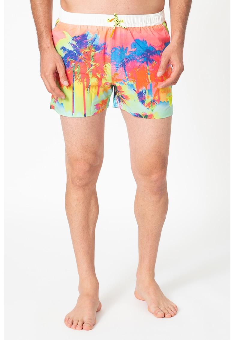 Pantaloni scurti de baie cu model tropical