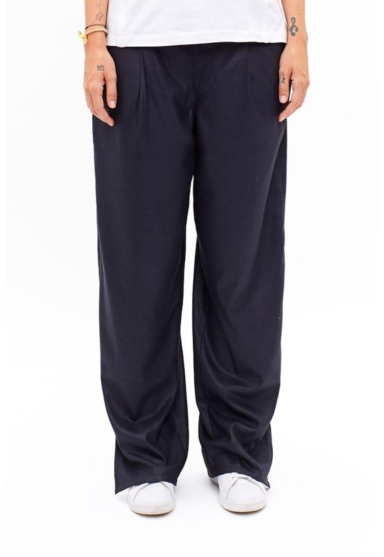 Pantaloni relaxed fit din amestec de lana
