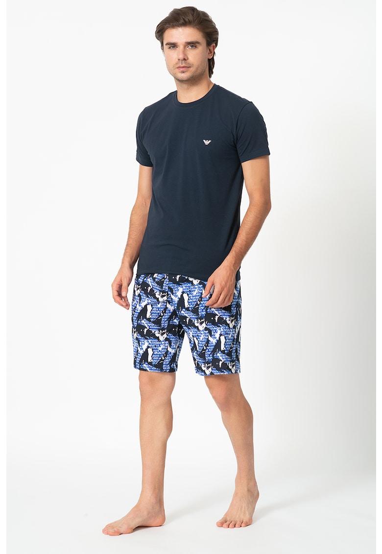 Pijama cu imprimeu logo imagine