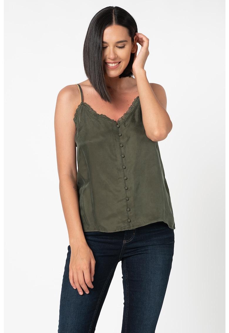 Bluza fara maneci cu insertii de dantela Khloe imagine fashiondays.ro