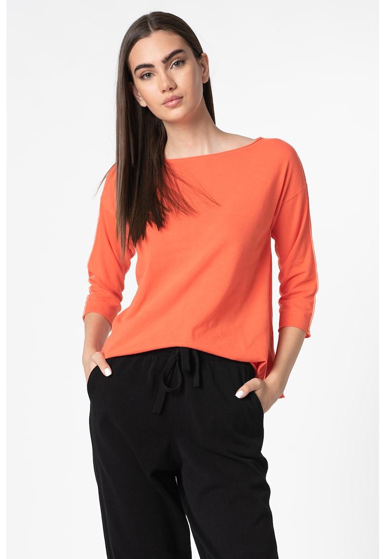 Bluza din jerseu cu decolteu barcuta imagine