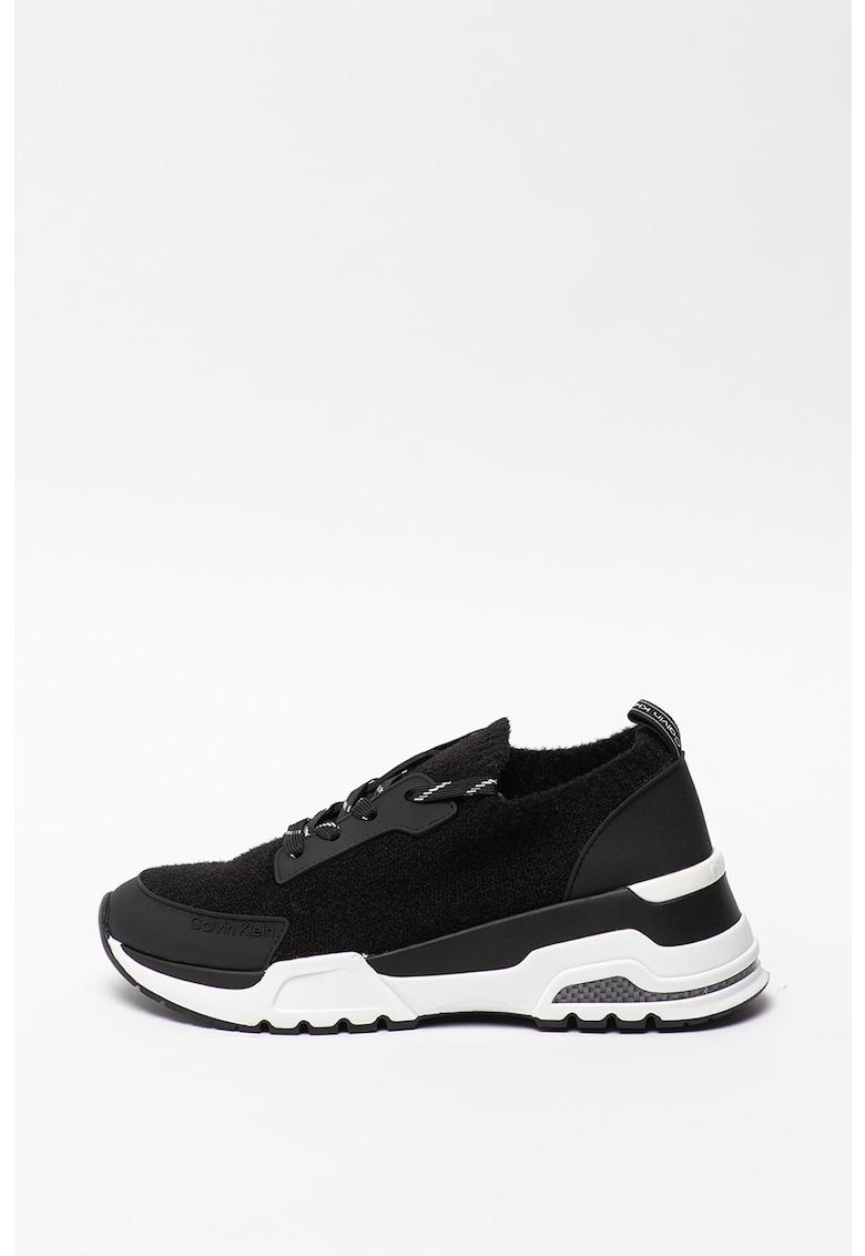 Pantofi sport de piele ecologica si material textil Hensley
