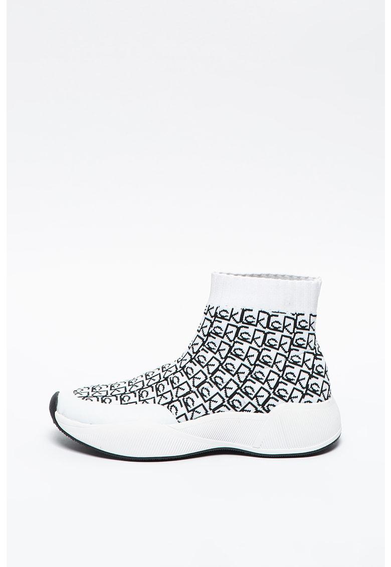 Pantofi sport slip-on flatform de material textil Beaudan imagine