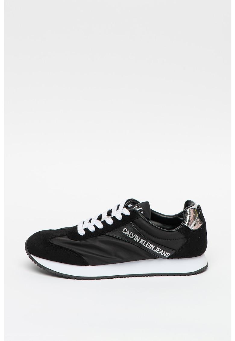 Pantofi sport de piele ecologica cu garnituri din material textil Jerrold