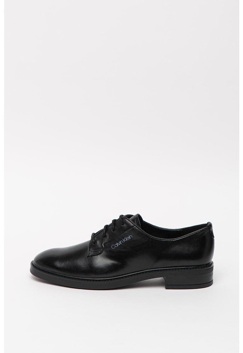 Pantofi derby de piele Farasha imagine promotie