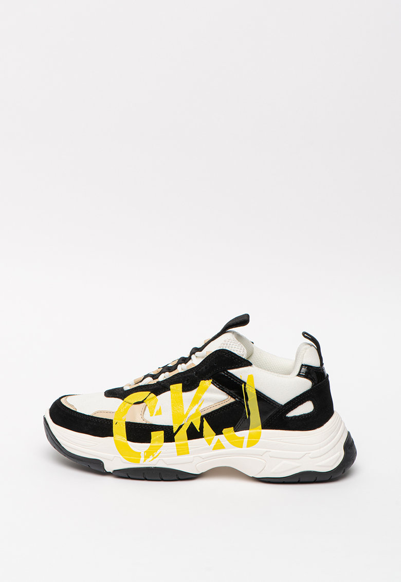 Pantofi sport wedge cu insertii de piele intoarsa Marleen imagine promotie