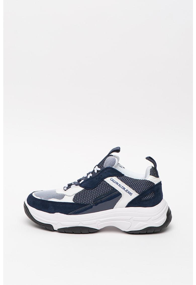 CALVIN KLEIN - Pantofi sport masivi cu insertii de plasa Marvin