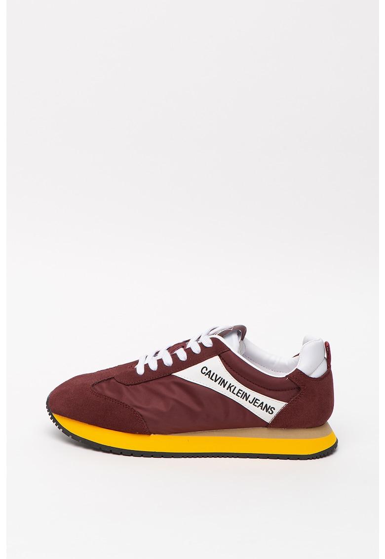 Pantofi sport de material textil cu insertii de piele intoarsa Jerrold