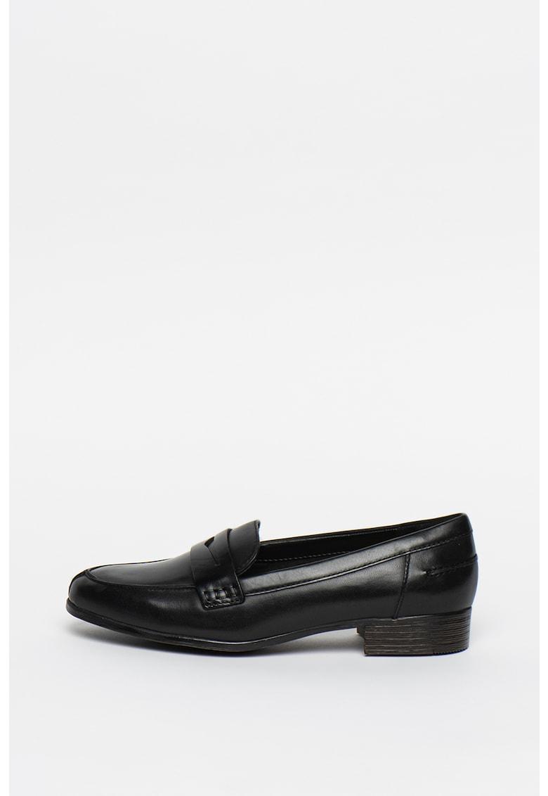 Clarks Pantofi loafer de piele Hamble