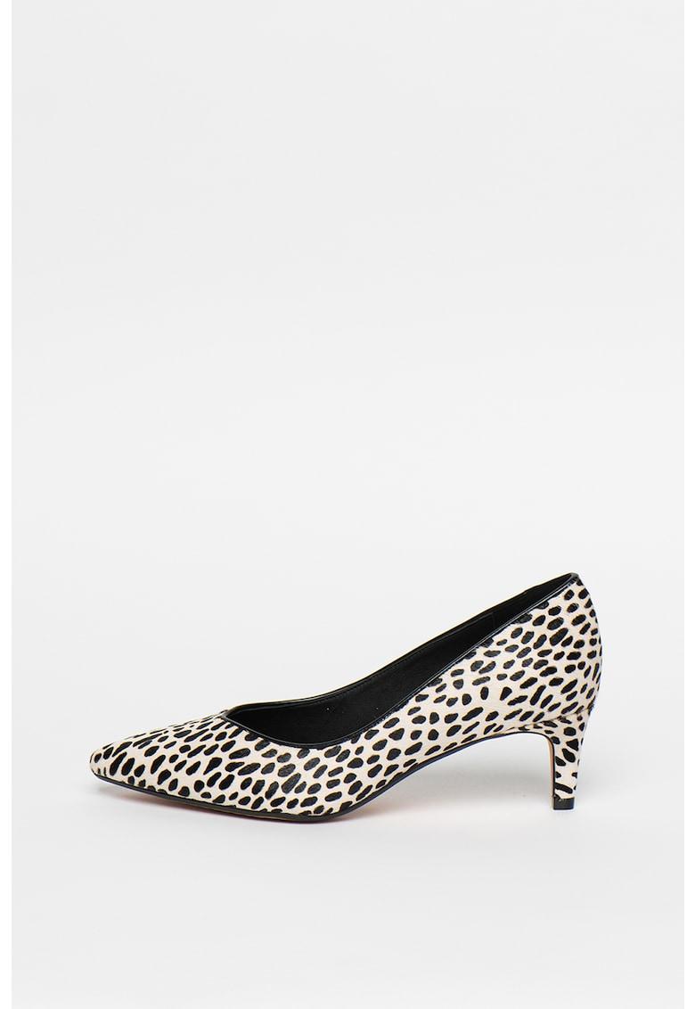 Pantofi de piele cu par scurt - cu varf ascutit Laina55 imagine