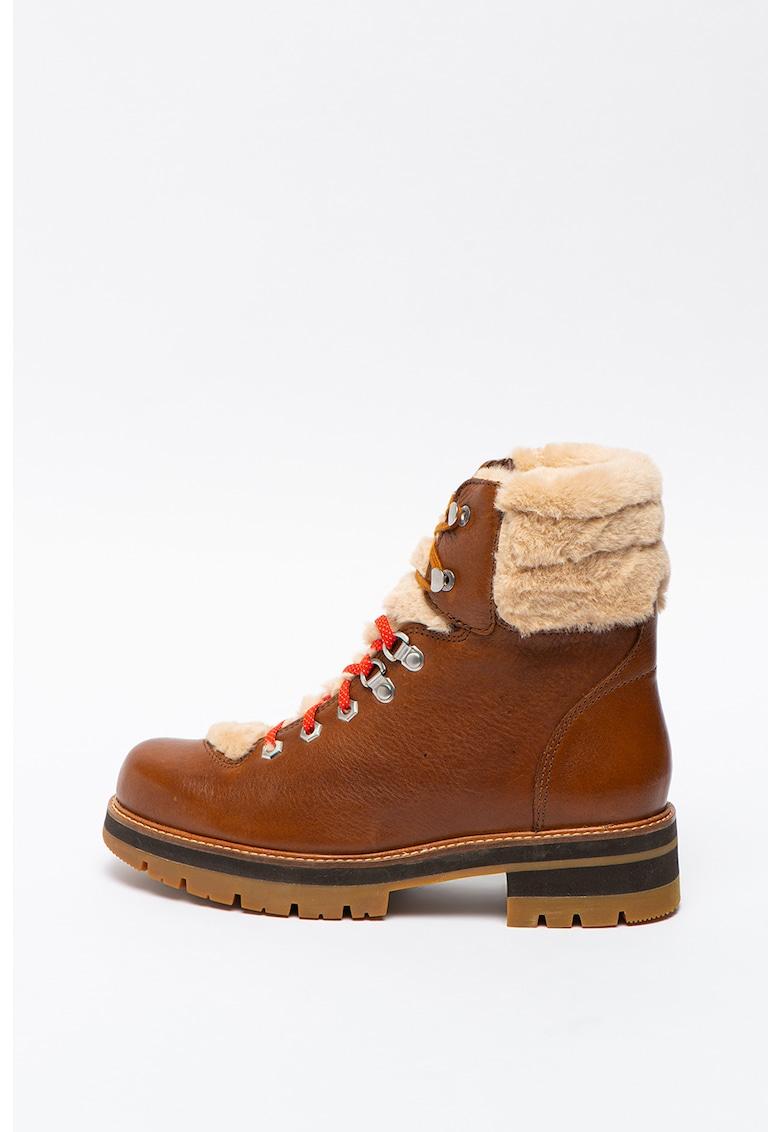 Ghete de piele cu garnitura de blana sintetica Orianna-Hiker imagine promotie