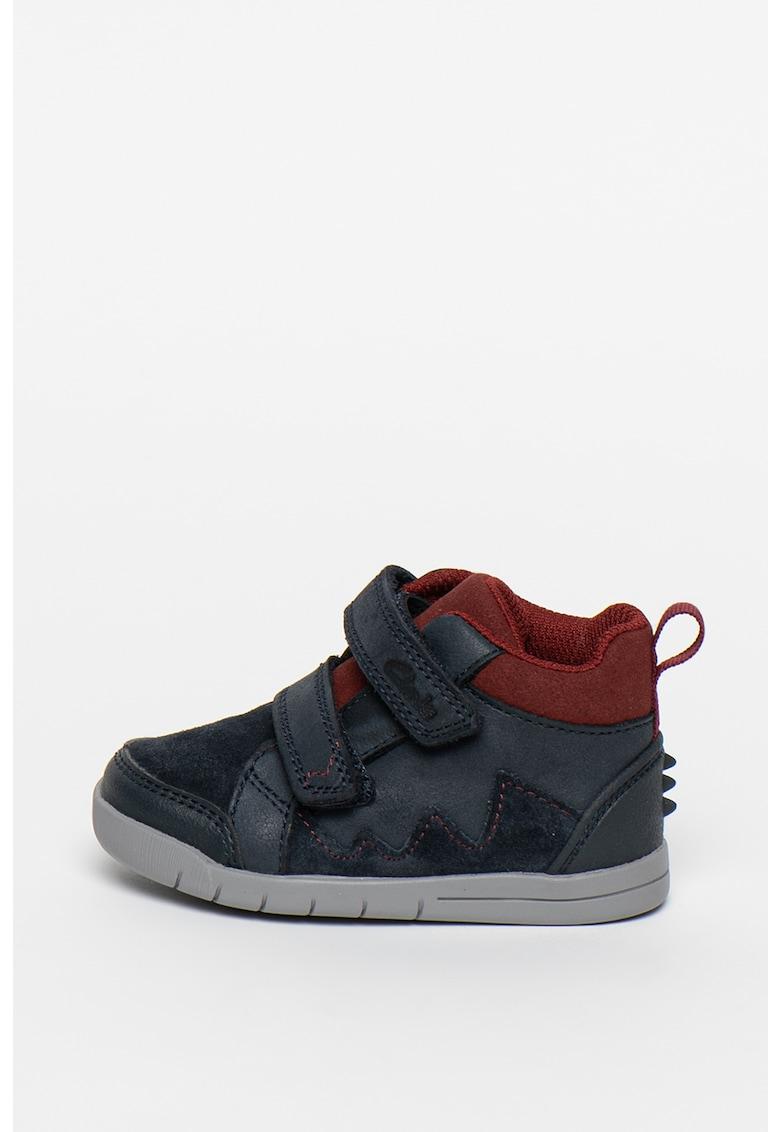 Pantofi sport de piele ecologica cu garnituri de piele intoarsa Rex Park