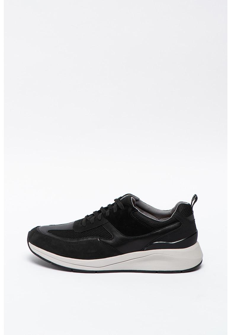 Pantofi sport de piele si material textil Coplin Flow imagine promotie