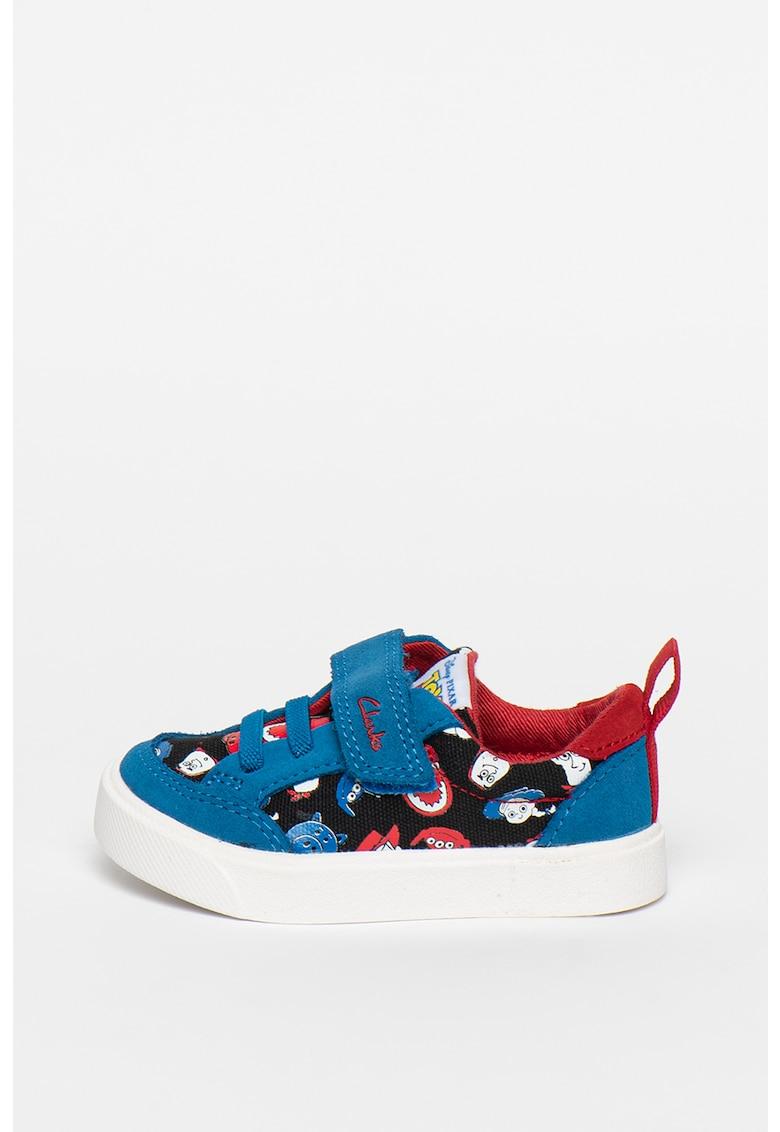 Pantofi sport cu garnituri de piele intoarsa City Howdy