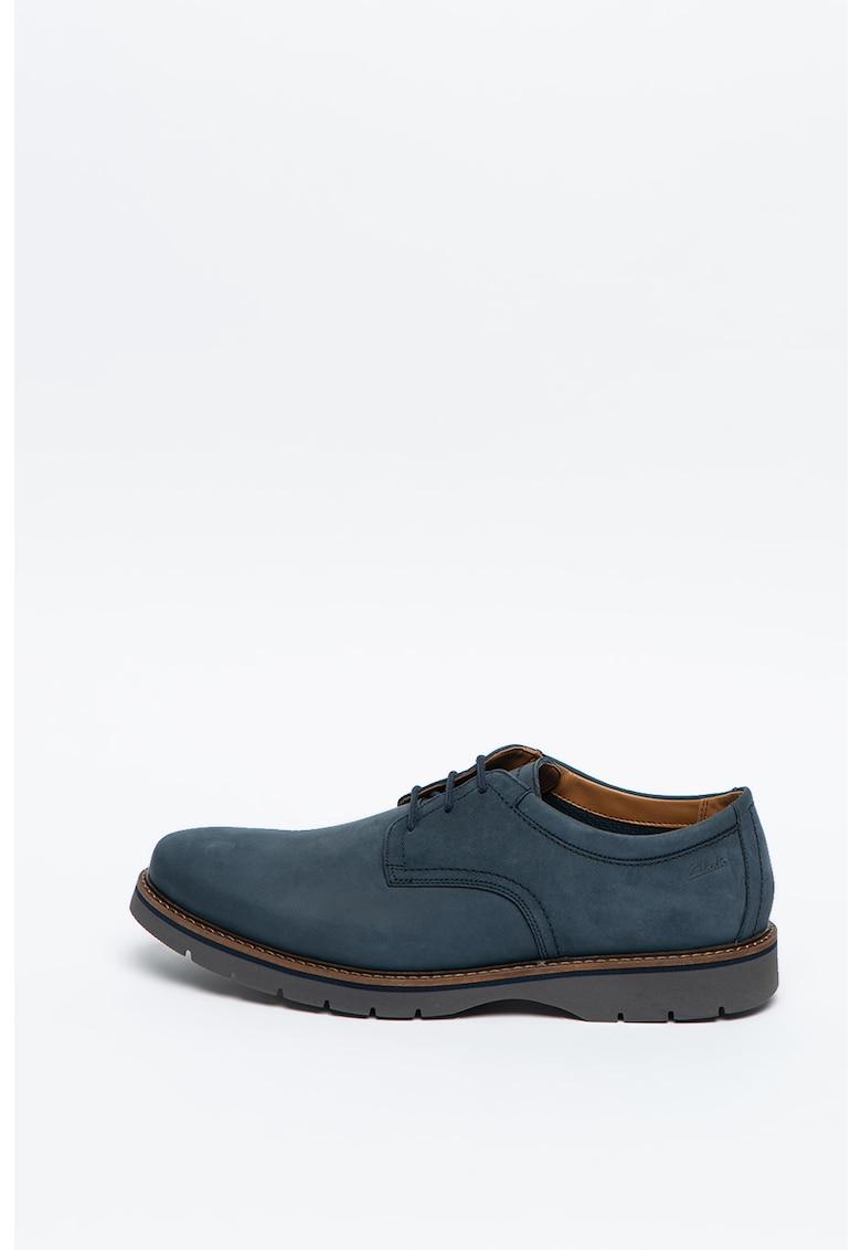 Pantofi derby de piele nabuc Bayhill Plain de la Clarks