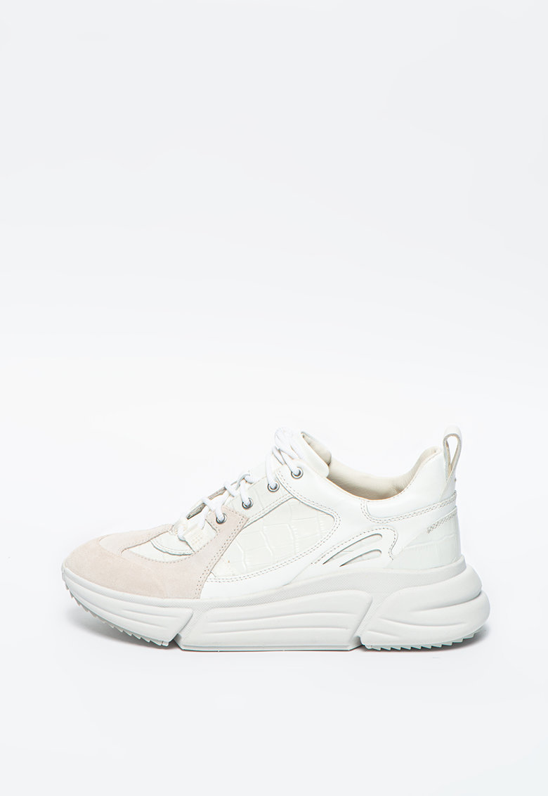 Pantofi sport din piele cu garnituri din piele intoarsa TriComet imagine promotie