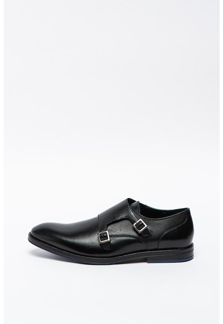 Pantofi monk de piele cu catarame Citistride imagine promotie