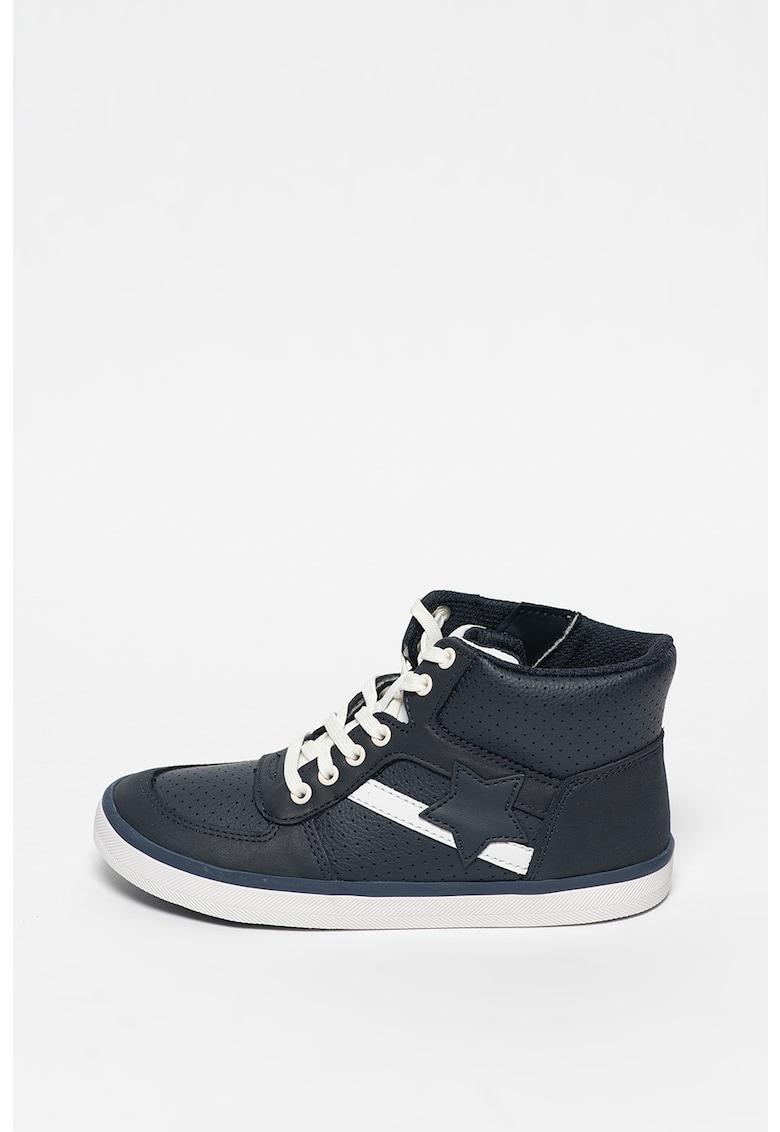 Pantofi sport de piele hi-top City Flake imagine promotie