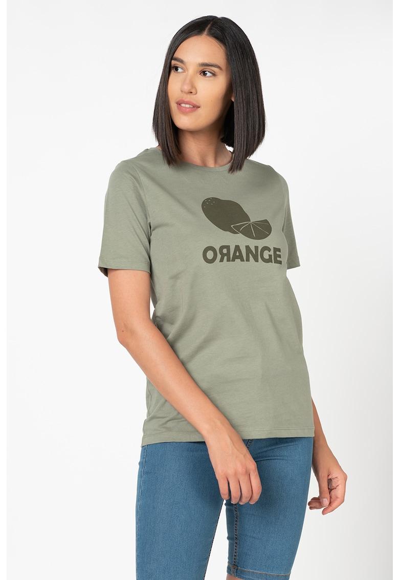 Tricou de bumbac organic - cu imprimeu Samia imagine