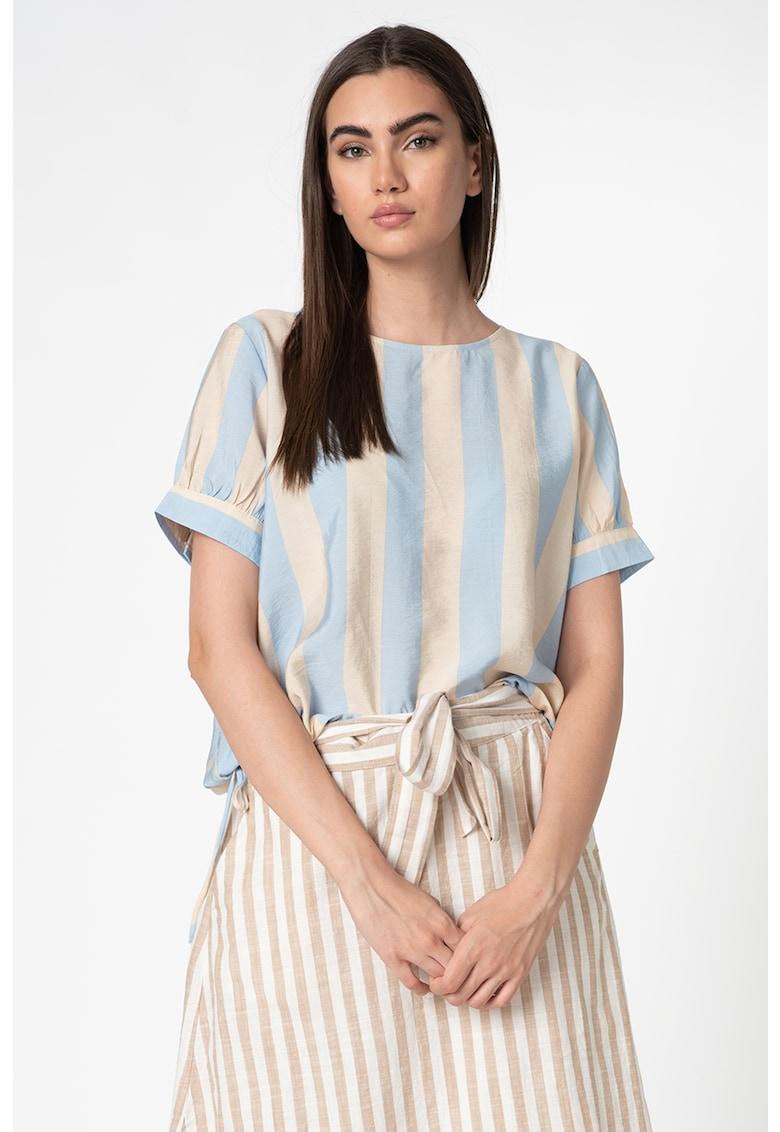Bluza cu maneci scurte si model in dungi imagine promotie