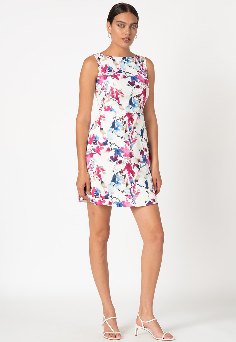 Rochie mini cu imprimeu floral imagine promotie