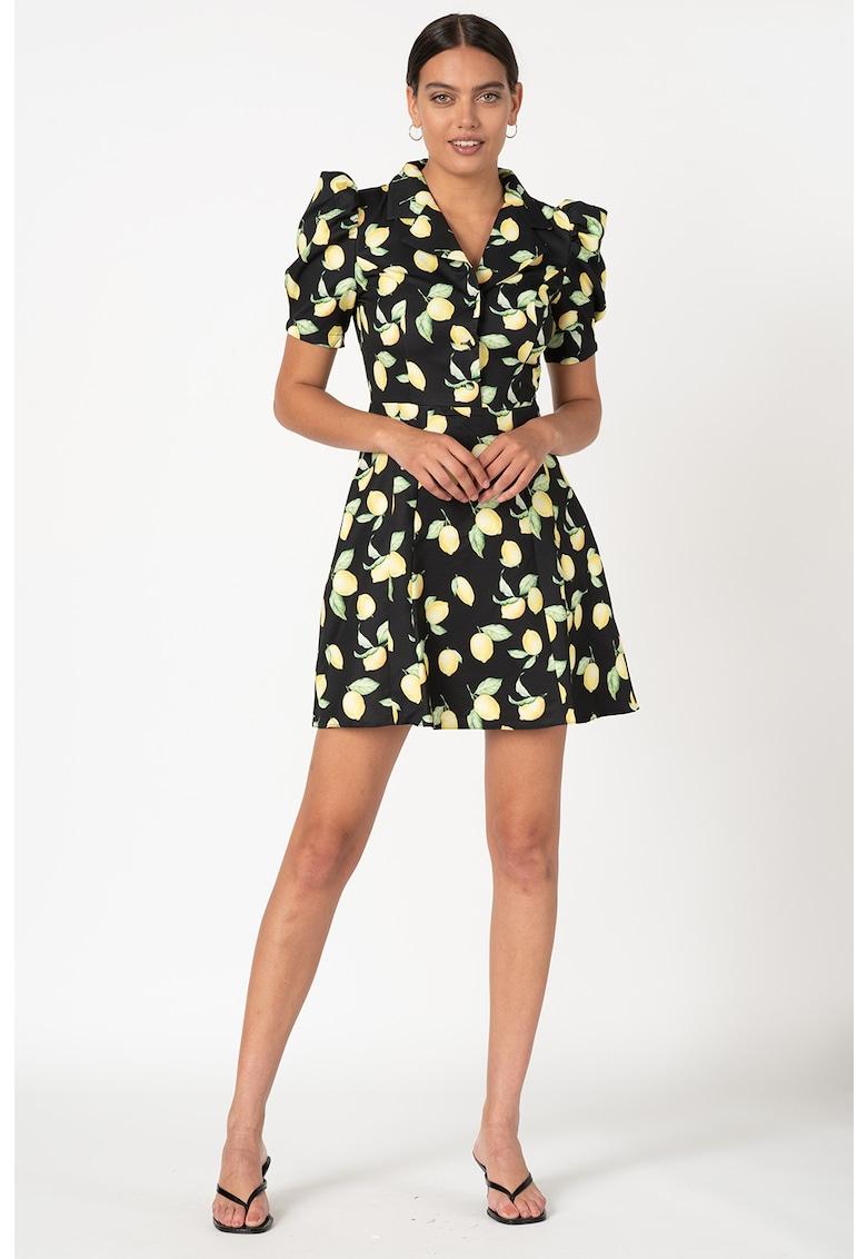 Rochie evazata cu model cu lamai imagine fashiondays.ro
